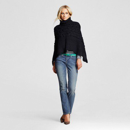 Fashion for women over 60 - Mossimo straight leg jeans from Target are a staple in any older women's wardrobe.