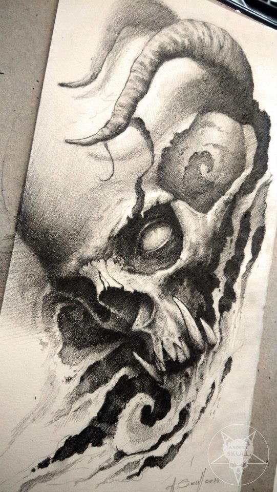 skull by AndreySkull.deviantart.com on @DeviantArt