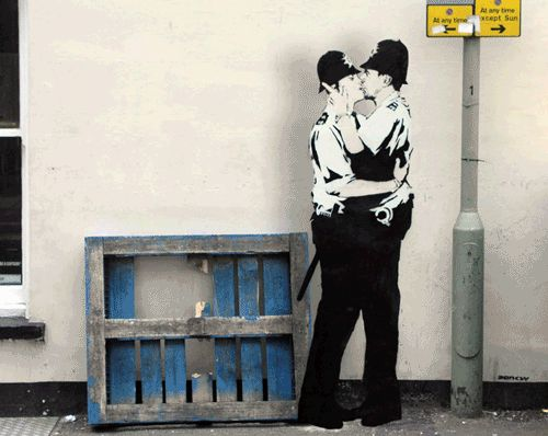 Banksy's street art brought to life as animated GIFs — Lost At E Minor: For creative people