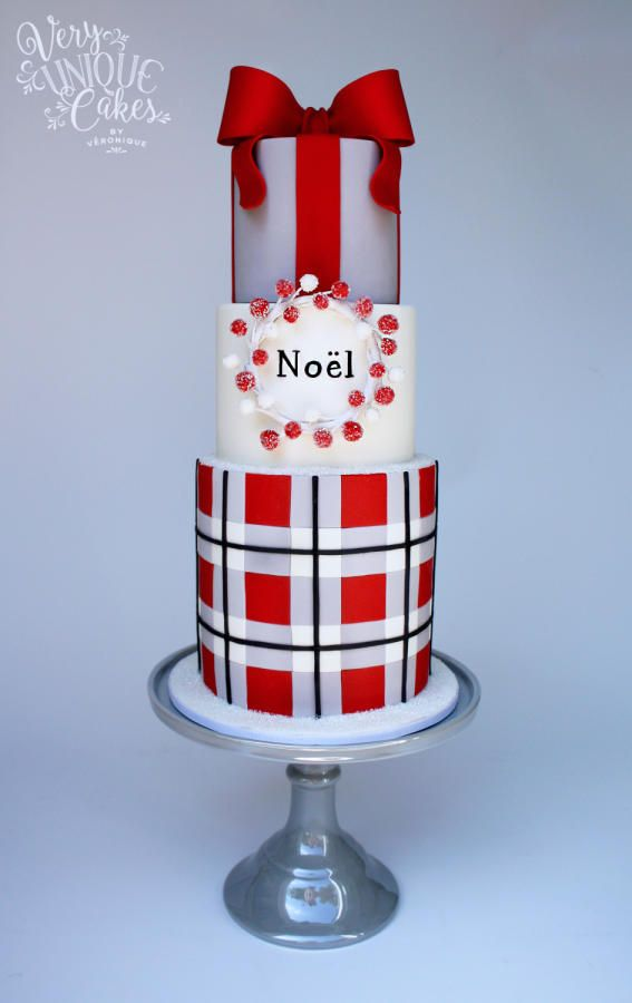 """""""Tartan de Noël"""" by Very Unique Cakes by Veronique"""