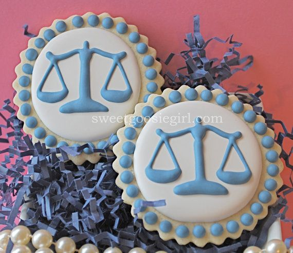 Scales of Justice Decorated Sugar Cookies by sweetgoosiegirl, $33.00