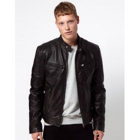 Men's Black Leather Jackets For Sale | Genuine Leather Jackets