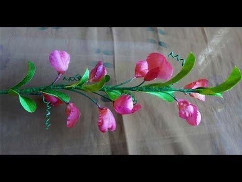 Душистый горошек полевой. Интерьерный цветок ❤ https://www.youtube.com/watch?v=rF2qVIPmc74 ❤ http://kanunnikovao.ru/dushistyj-goroshek-iz-shelka/