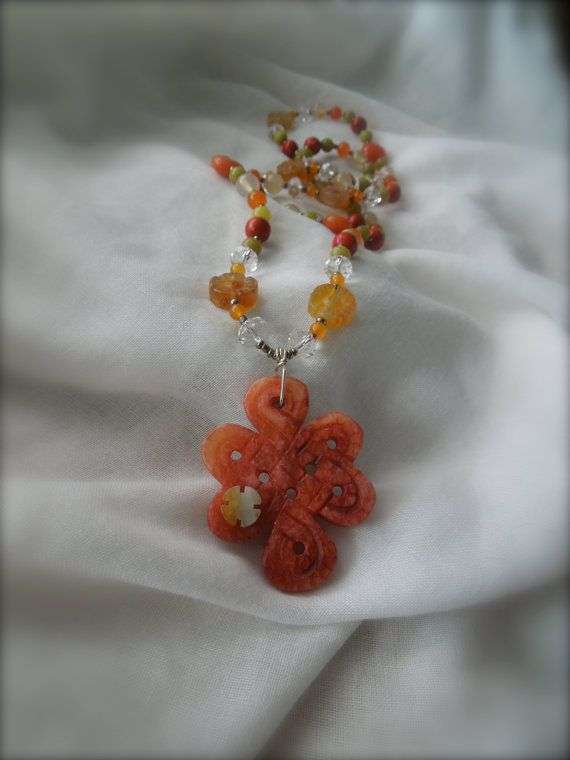 Multi Gem / Citrus Shades Beaded Necklace by StellaMargaritis, $48.00