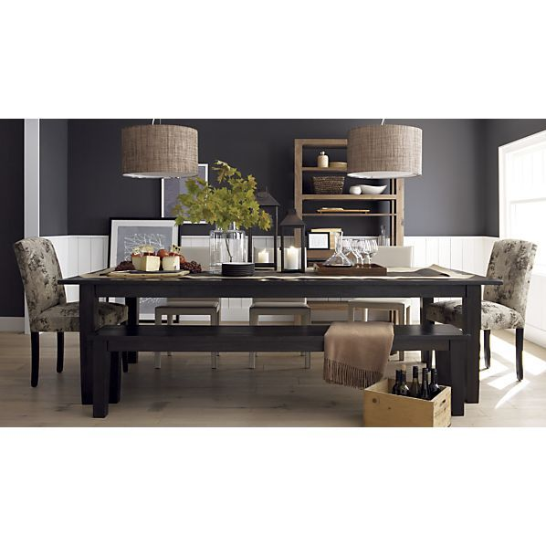 Basque Java 82 Dining Table Crate And Barrel