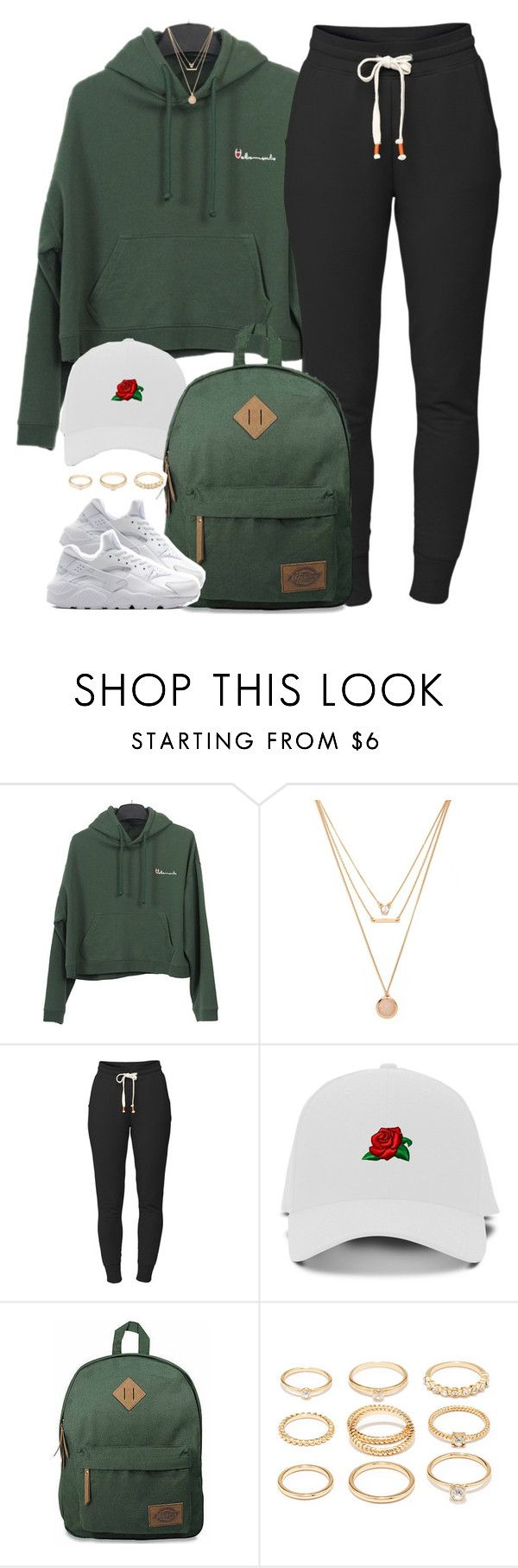 """""""1 3 7 8 • champion x nike"""" by cheerstostyle ❤ liked on Polyvore featuring Forever 21, Lija, Dickies and NIKE"""