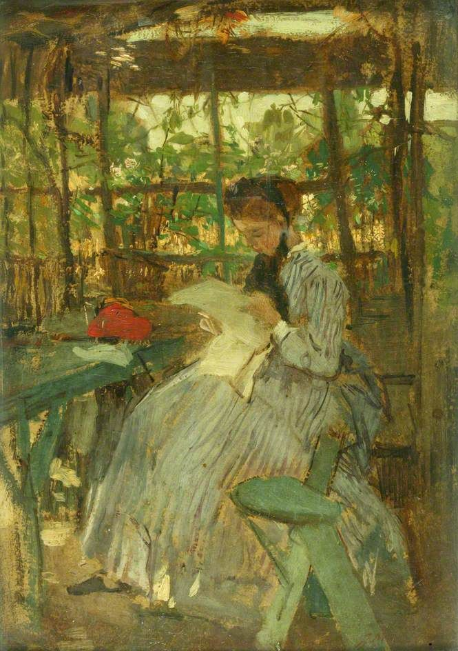 labellefilleart: In the Garden, Jacob Henricus Maris