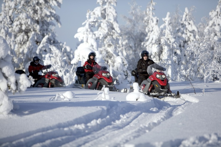 Finland. Explore on a snowmobile safari the landscape of Sami culture in Lapland. Travel along the ancient trails of this aboriginal people, through the forest and over the mountains.