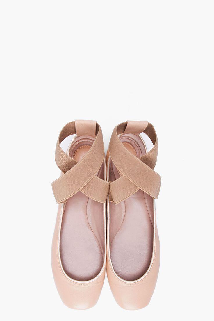 chloe ecru ballerina flats