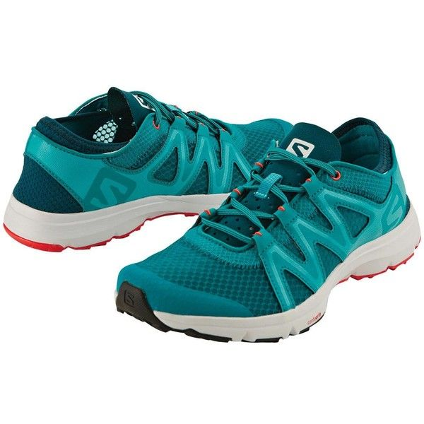 Salomon Aquarius Running Shoe ($90) ❤ liked on Polyvore featuring shoes, athletic shoes, breathable slip on shoes, running shoes, slip on athletic shoes, grip shoes and salomon shoes