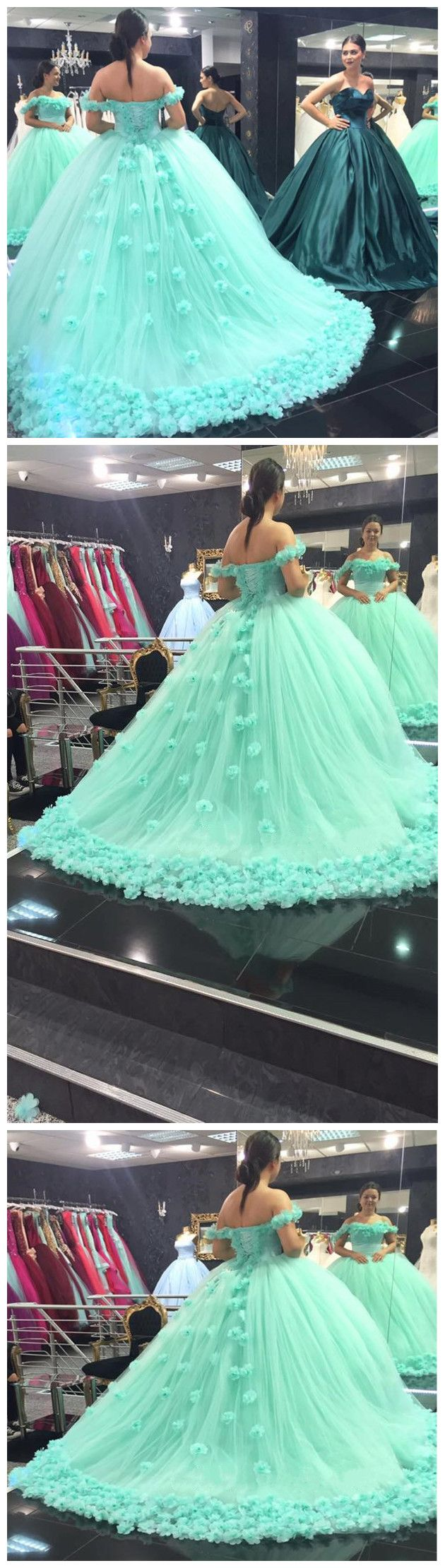 New Arrival Prom Dress,Modest Prom Dress,mint green quinceanera