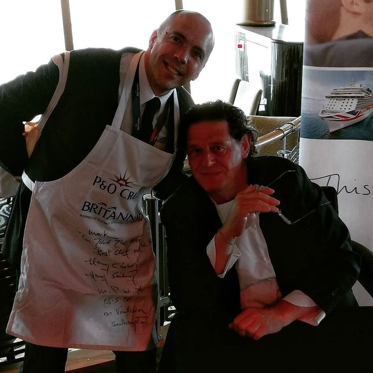 Me and Marco Pierre White! #cruise #cruiserevolution  #cliaonventura #myclia @pandocruises #food #chef