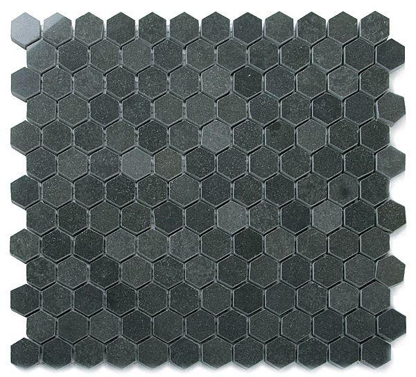 Hex bluestone tile