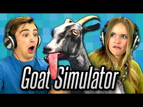 Teens React to the 'Goat Simulator' Video Game*** I love this video!