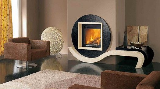 luxury fireplaces | Luxury Fireplaces, 10 Creative Claddings For Modern Fireplaces from ...