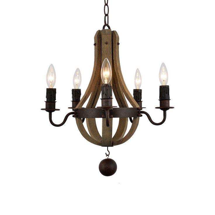 Wood Light Fixture Rustic Ceiling Light Rustic Light Unusual: Best 25+ Wine Barrel Chandelier Ideas On Pinterest