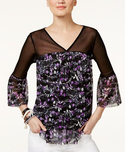 31.99$  Watch here - http://vipmz.justgood.pw/vig/item.php?t=e4bzy0v3512 - Printed Illusion Top, Only at Macy's