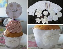 The Paper Princess | FREE Cupcake Template and Tutorial