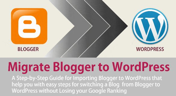 Blogger to WordPress [2016] - This is a step-by-step guide for importing Blogger blog to WordPress that helps you with easy steps for switching a Blog from Blogger to WordPress without losing your Google ranking or PageRank. Check out this How-to guide to move your blog from Blogger to WordPress.