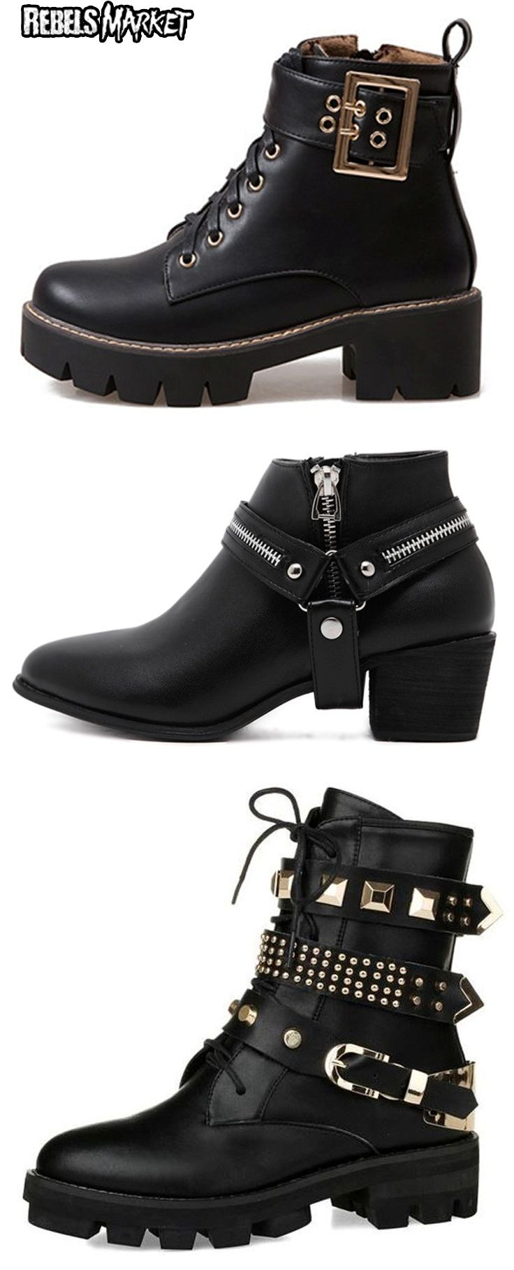 Shop punk spring boots at RebelsMarket