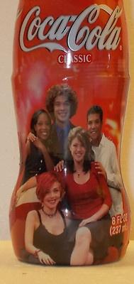 8oz Coca Cola Coke Bottle American Idol Season 1 Kelly Clarkson Justin Guarini | eBay