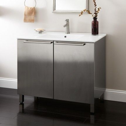 Images Of basement powder Tybalt Stainless Steel Vanity