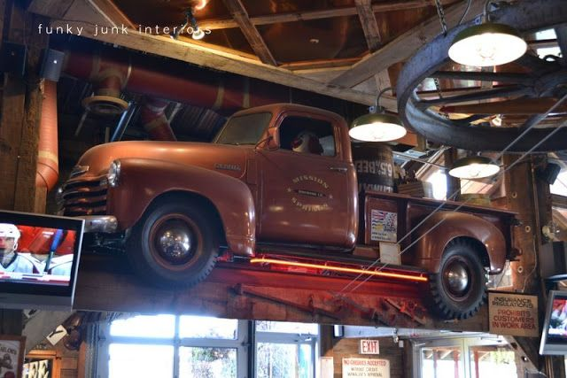 Junk filled pub decorating you won't believe! Mission Springs Brewing Company | Funky Junk Interiors