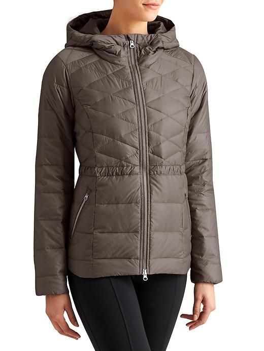 Down With It Jacket - Designed to hit at the low hip for almost complete CYA coverage, this Insul8 down jacket features a flattering cinch waist shape and wind-resistant, water-repellant outer fabric.