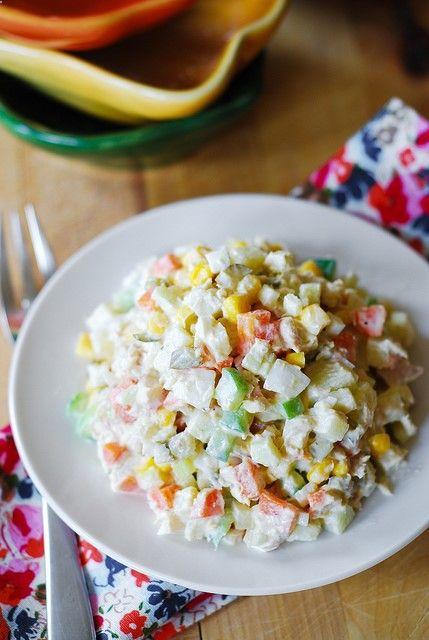 Potato salad with tuna - Olivier Salad by JuliasAlbum.com, via Flickr