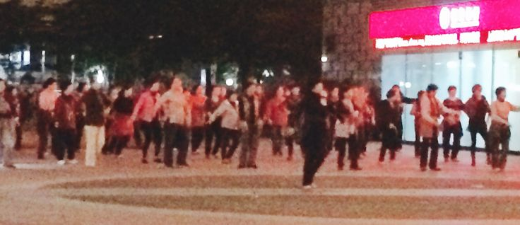 Public dancing in China! Very great
