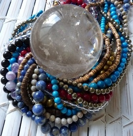 Crystal healing energy jewelry