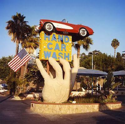 Hand Car Wash sign // David Graham: Studio City, California, 2006