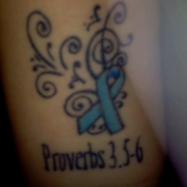My tattoo. Raising Dysautonomia Awareness. & the verse is what gets me thru the days <3