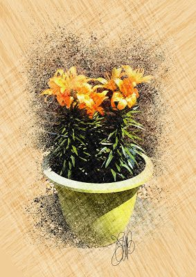 "FASHION CREATIONS by  ELIBET6.: Wall Art "" A Pot of Yellow Flower""."