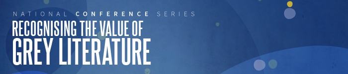 Grey literature conference banner
