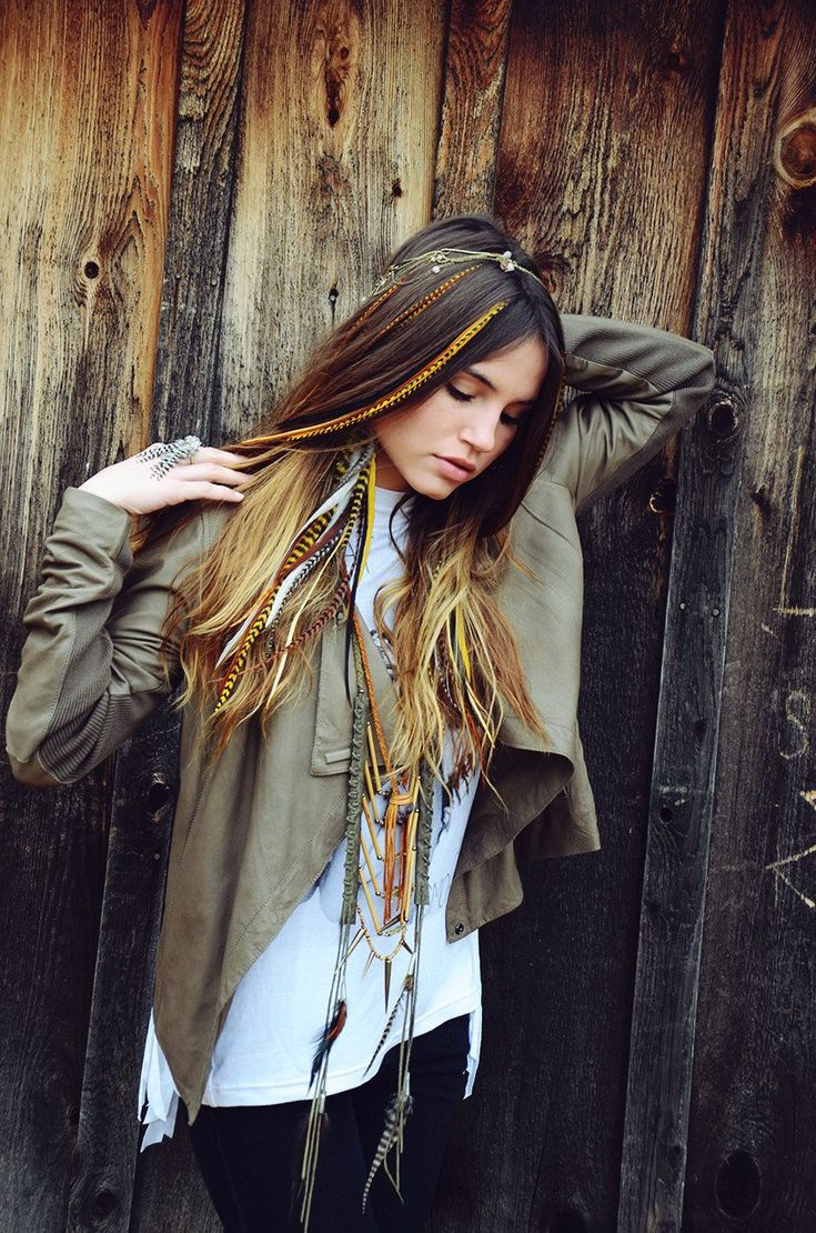 Feather hair extensions feathered hairstyles feather