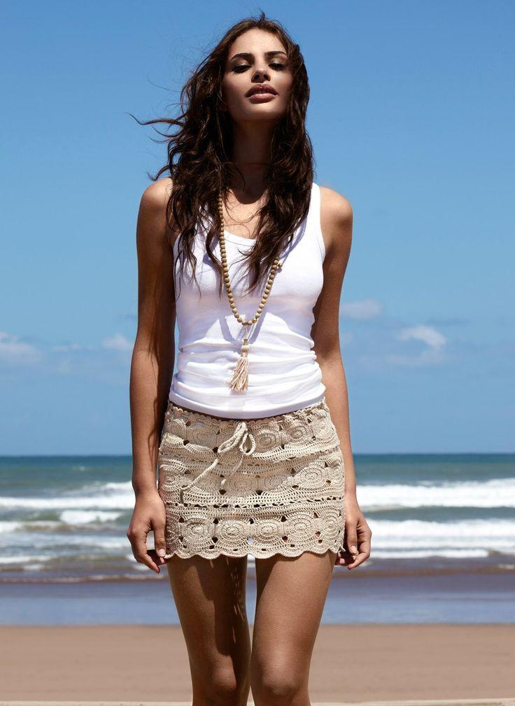 Melissa Odabash 2013: Adele Crochet skirt with an adjustable waistband.