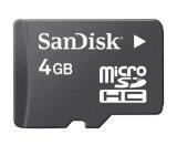 SanDisk 4GB microSD Memory Card for RIM BlackBerry 8900 Curve, 8350i Curve, Storm 9530, Pearl Flip 8220, 9000 Bold, 8110 Pearl, 8330 Curve, 8120 Pearl, 8130 Pearl, 8310 Curve, 8320 Curve, 8820, 8300 Curve, 8830 Smartphone - SanDisk 4GB microSD Memory