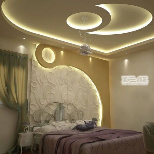 افكار ديكورات جبس غرف نوم فخمه للعرسان Bedroom False Ceiling Design Ceiling Design Bedroom Modern House Exterior
