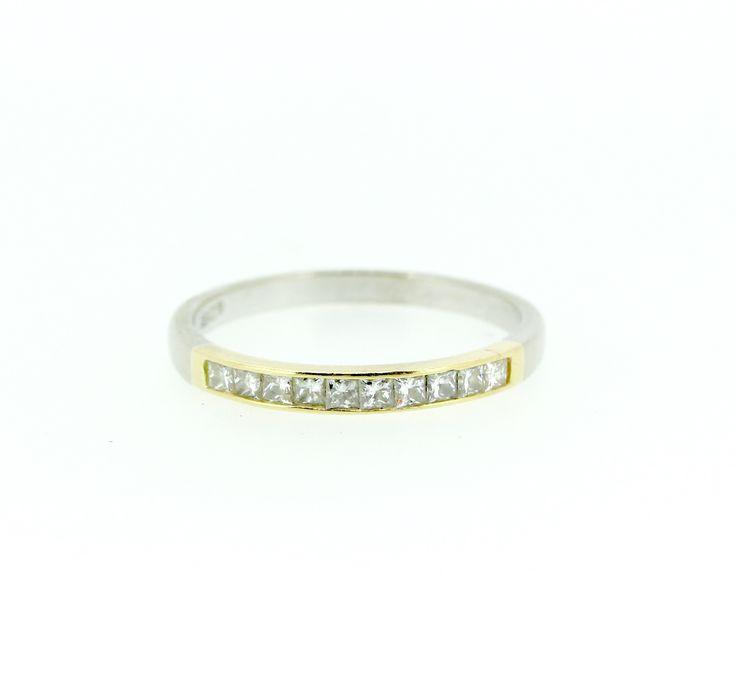 Stunning diamond set two tone band, hand made on site at Clayfield Jewellery Nundah Village, North Brisbane