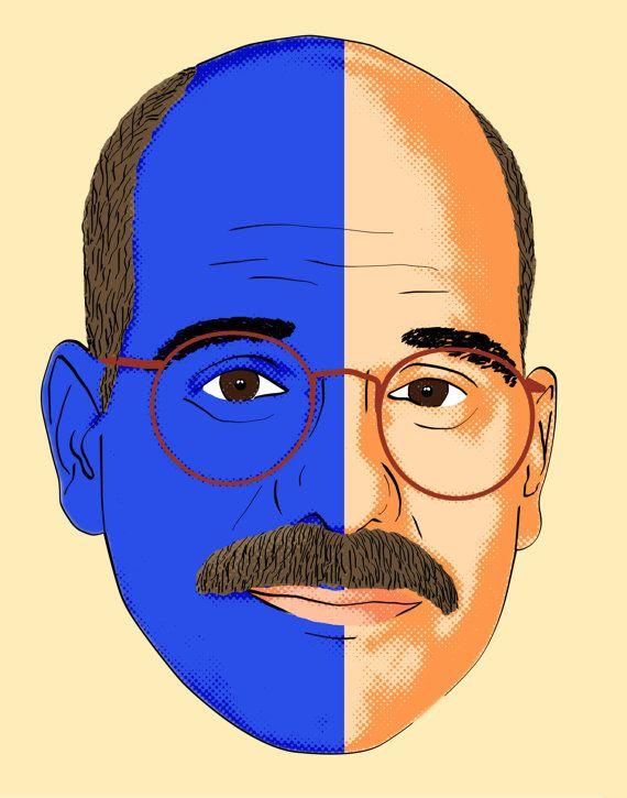 "Arrested Development Tobias Funke ""The Man Inside Me"" Half Man-Half Blue Print, via Etsy."