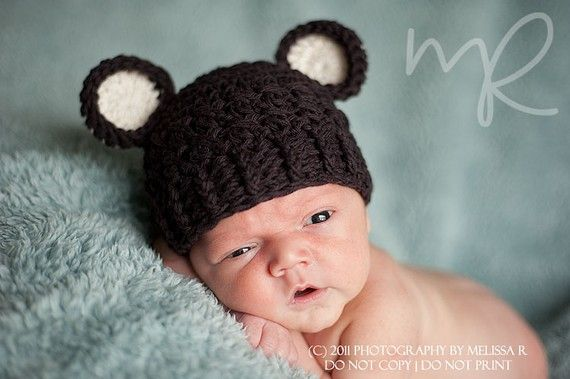 Baby Boy Hat Newborn 0 to 1 Months Baby Boy by ChunkyMonkeyBeanies, $20.00