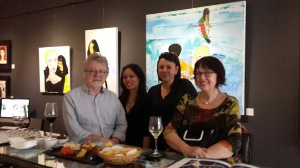 Geoff & the ladies at Launch #pngallery #weloveart