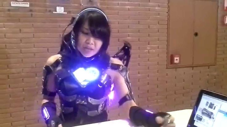 Robotic Exoskeletons Atmel at Maker Faire Rome 2014.