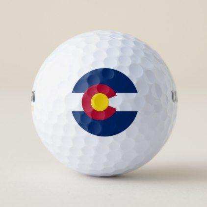 Wilson Golf Ball with flag of Colorado USA - elegant gifts gift ideas custom presents