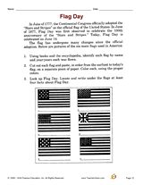 Develop library-skills with this activity that focuses on facts about the U.S. flag. #FlagDay