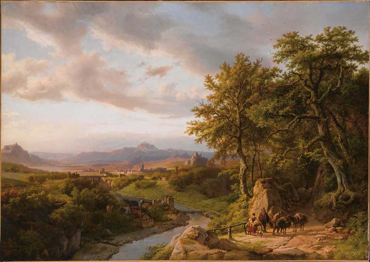 Barend Cornelis Koekkoek (1803-1862), Landscape in Luxemburg, Oil on canvas 83 x 116,5 cm. Signed. Estimate: Euro 600.000/1.100.000. Sale: 19th century European Paintings, 14 April 2008. © Sotheby's Amsterdam.