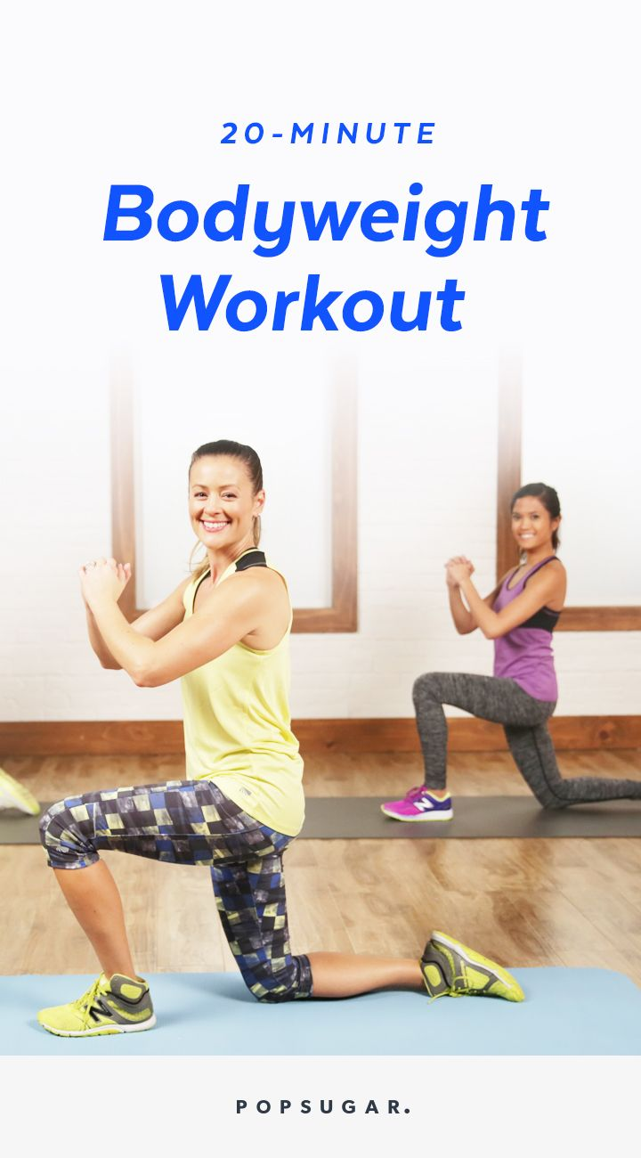 A 20-minutes, no-equipment bodyweight workout with modifications for beginners so everyone can follow along.