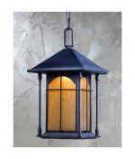 Triarch International 79137-14 LED Exterior Energy Smart 1 Light Outdoor Hanging Lantern in Oil Rubbed Bronze with Amber Tinted Water glass by Triarch International. $250.20. Craftsman-Mission Outdoor Hanging Lantern in Oil Rubbed Bronze with Amber Tinted Water glass from the LED Exterior Collection by Triarch International. Dimensions: 15.00 H 8.50 W 8.50 L - 79137-14