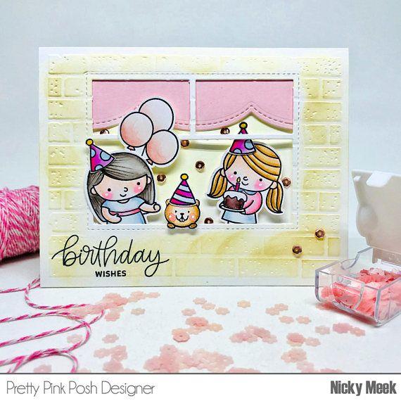 Birthday Friends - Pretty Pink Posh.  Card by Nicky Noo Cards #nickynoocards
